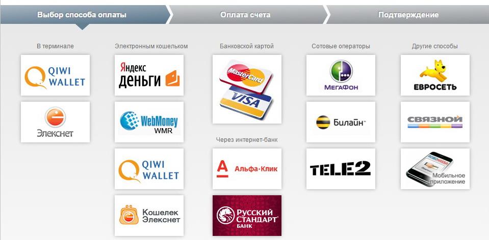 Оплата через Robokassa trizbox.ru